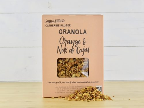 Granola orange et noix de cajou
