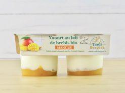 yaourt au lait de brebis et mangue bio