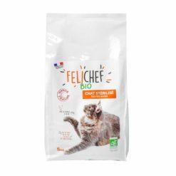 croquette bio chat stérilisé - sachet de 5 kg