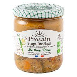 soupe rustique bio aux 6 legumes champignons et quinoa vegan
